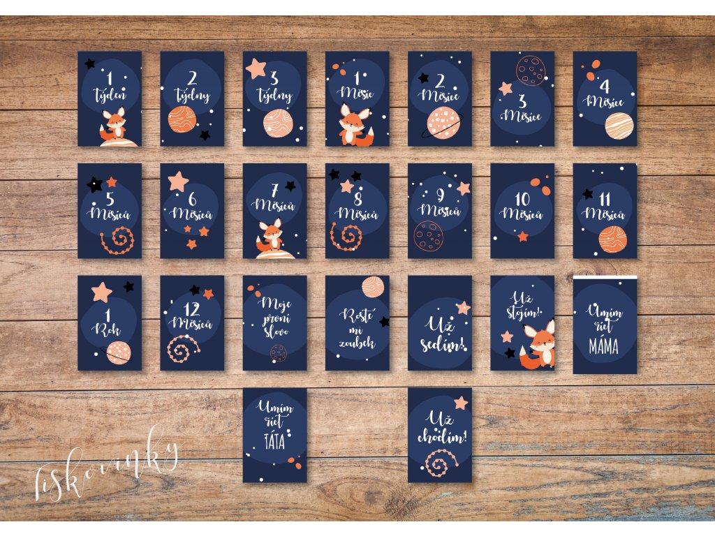 Milníkové kartičky Vesmír #2 NAHLED