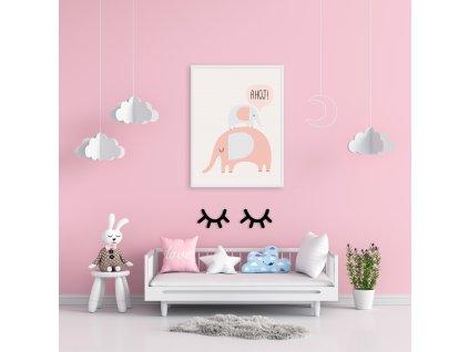 plakat sloni