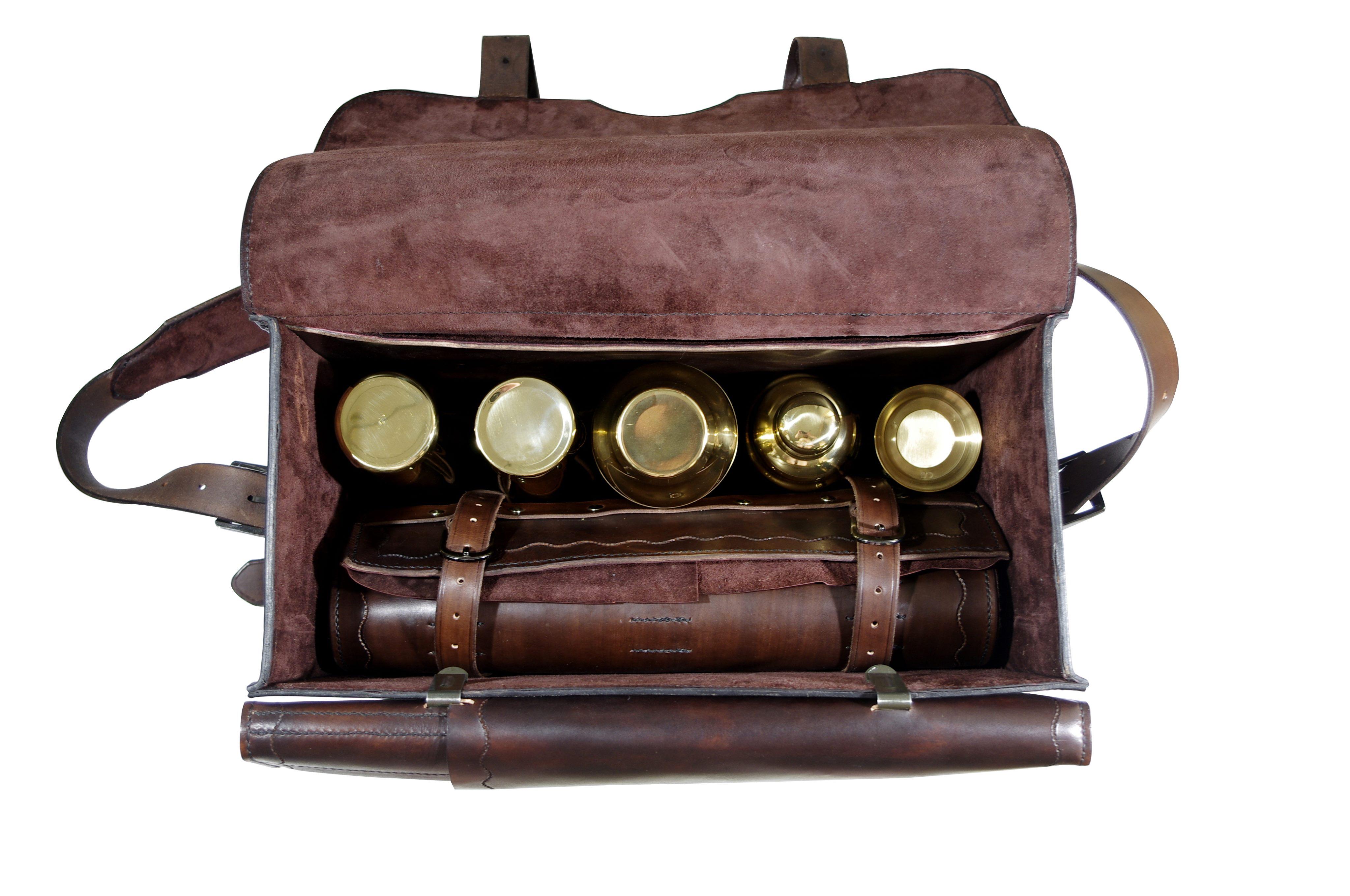 Premium bartender leather bag