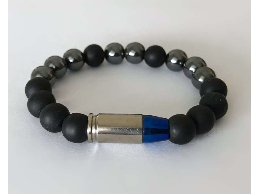 Titanium pánsky náramok - matný onyx, hematit