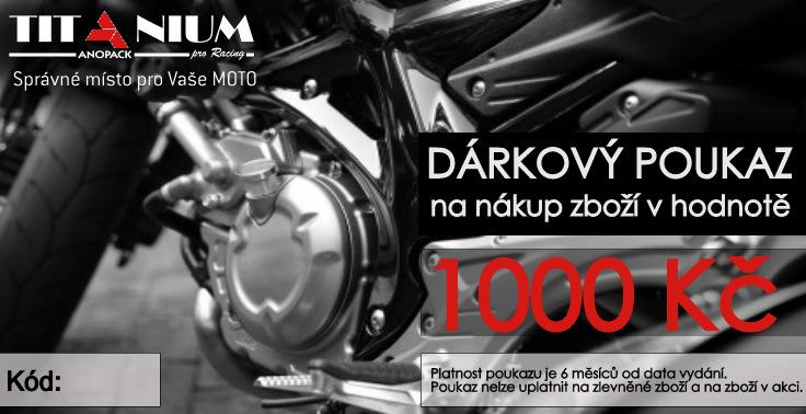 Dárkový poukaz na motocykl Titaniumpro