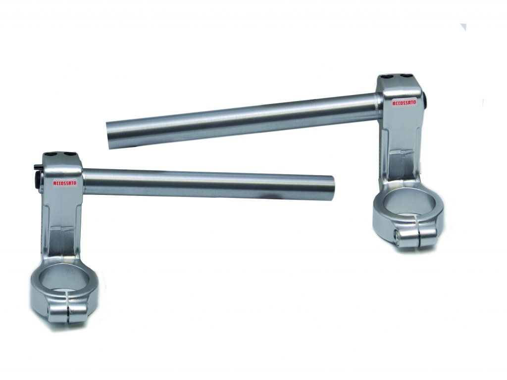 Řidítka ACCOSSATO dvoudílná s kovaným třmenem pro SUZUKI SV650S / SV1000S zvýšená o 40 mm