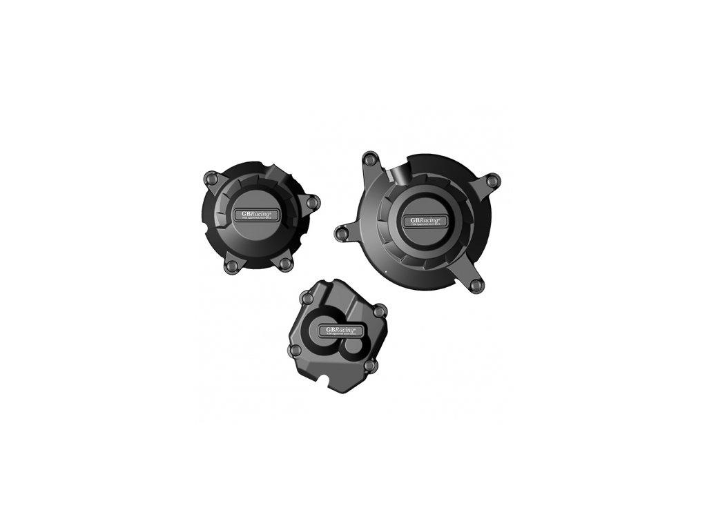 Sada krytů motoru (alternátoru, spojky, zapalování) GB Racing - KAWASAKI ZX-10R r. 11-20