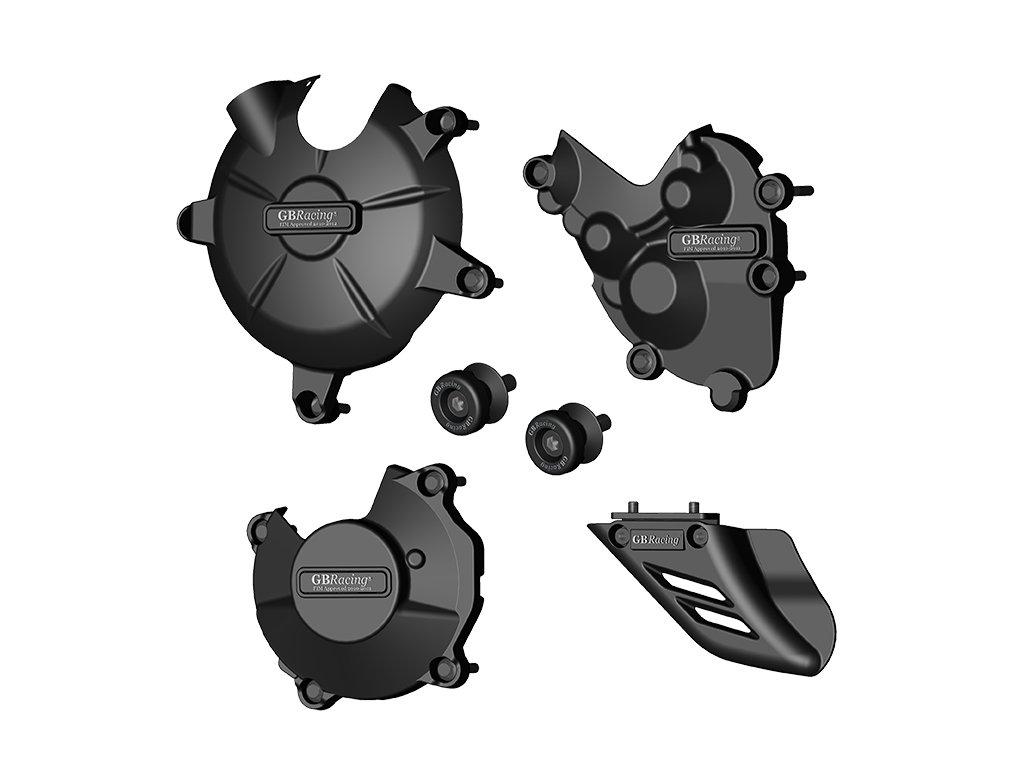 Sada krytů motoru, protektory zadní vidlice, kryt řetězu GB Racing - KAWASAKI ZX-6R r. 09-12