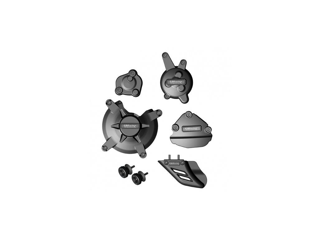 Sada krytů motoru, protektory zadní vidlice, kryt řetězu GB Racing - YAMAHA FZ1/FZ8 r. 09-14