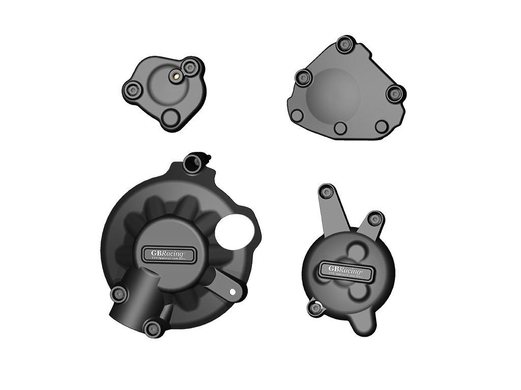 Sada krytů motoru (alternátor, spojka, zapalování, klika) GB Racing - YAMAHA YZF R1 r. 07-08