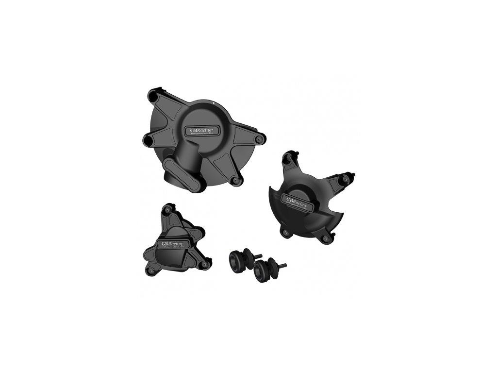 Sada krytů motoru a protektory zadní vidlice GB Racing - YAMAHA YZF R1 r. 09-14