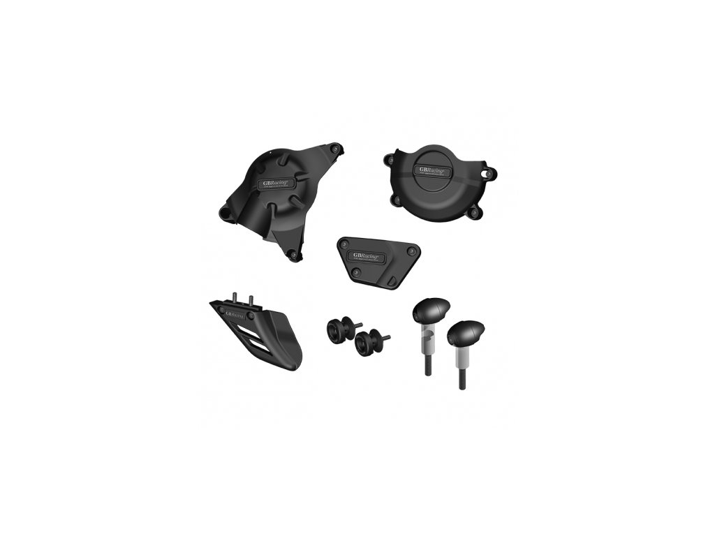 Sada krytů motoru, protektory ná rám, protektory zadní vidlice, kryt řetězu GB Racing - YAMAHA YZF R6 r. 06-14