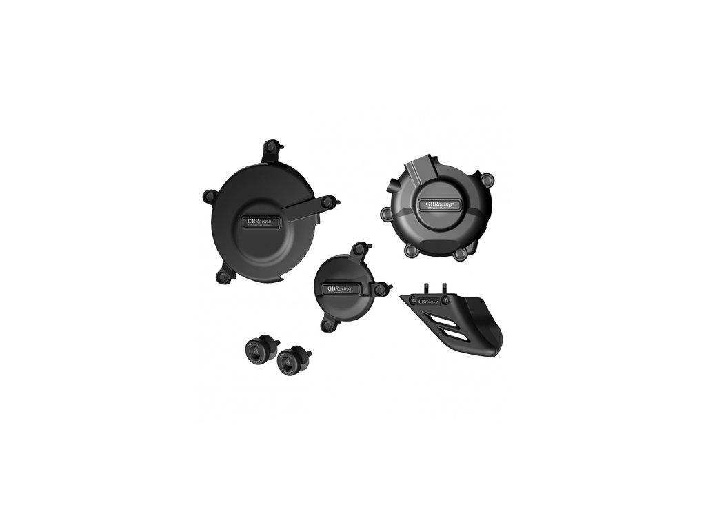 Sada krytů motoru, protektory zadní vidlice, kryt řetězu GB Racing - SUZUKI GSX-R600/750 K6-10