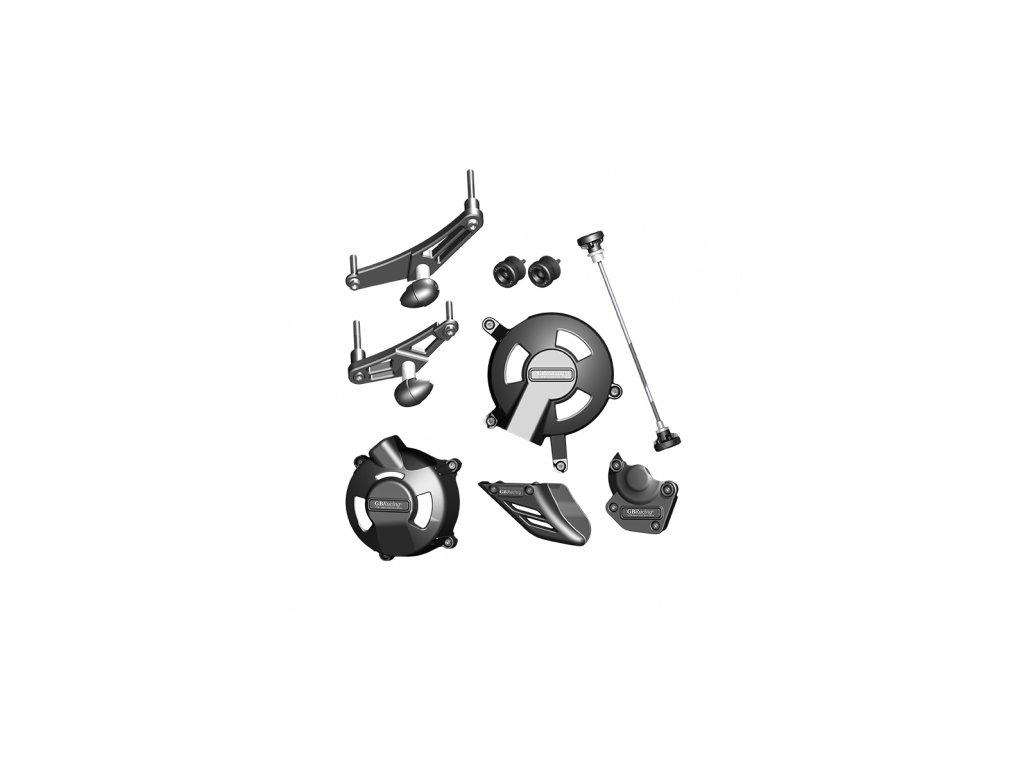 Sada krytů motoru, protektory na rám, protektory zadní vidlice GB Racing - TRIUMPH Daytona 675/ST (R) STOCK r. 06-10