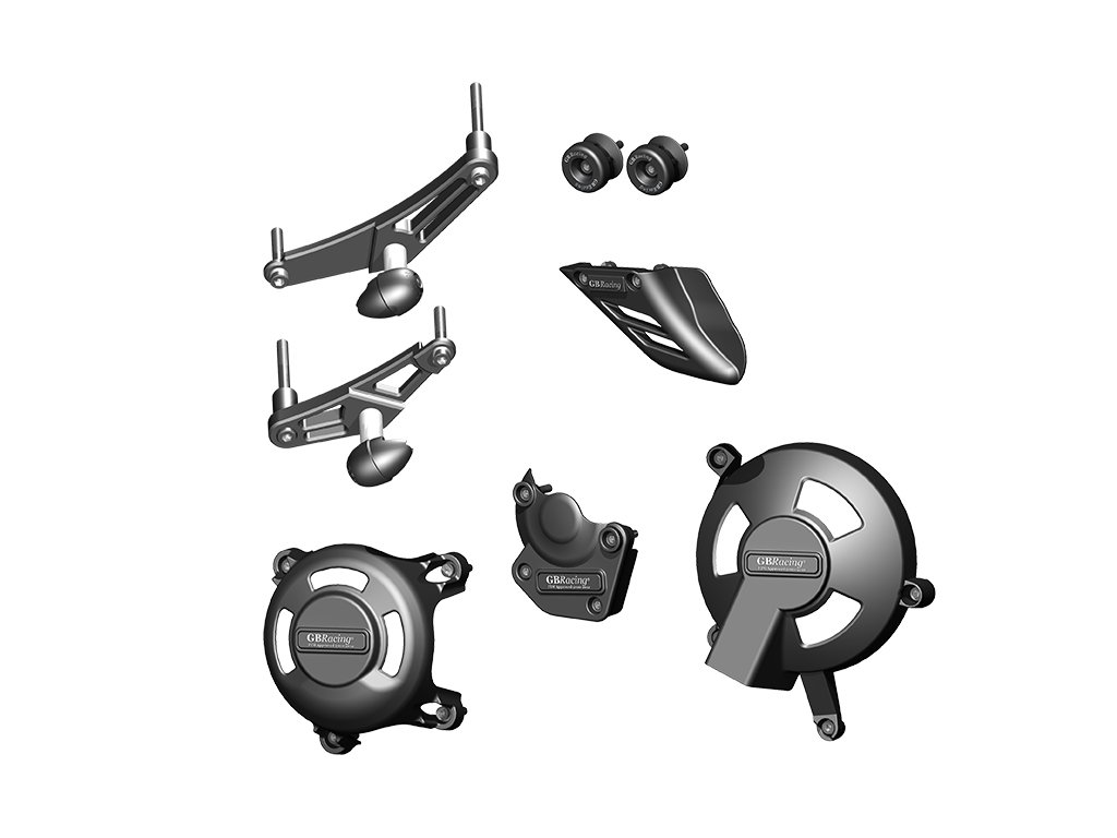Kompletní set protektorů GB Racing - Bundle - TRIUMPH Daytona 8mm KIT
