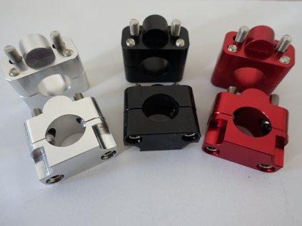 Zvýšení řidítek - redukce CNC pro řidítka 22 mm (zvýšení 25 mm) - černá