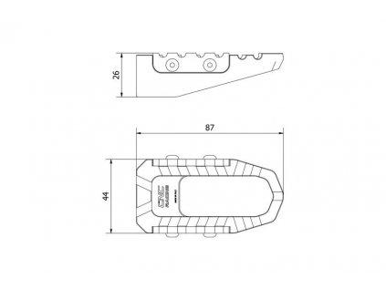 Stupačky cestovní CNC Racing Ducati Multistrada 1200 - pár