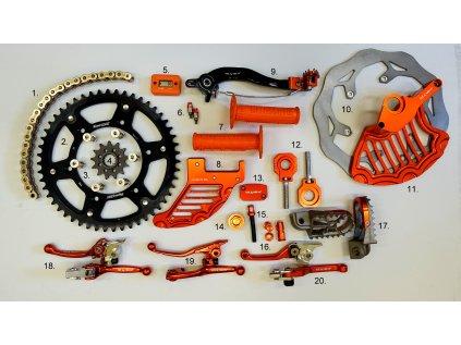 Sada dílů a doplňků OFFROAD - pro KTM, také jednotlivé části