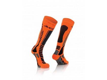 Podkolenky Acerbis MX Pro - černá/oranžová
