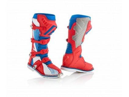 Boty na motokros boty X-PRO V Acerbis modro/červené