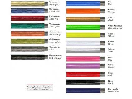 barva opleteni brzdove hadice