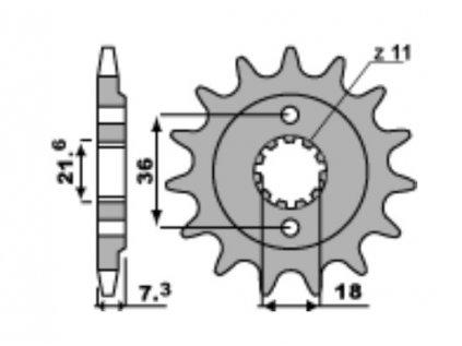 Sekundární kolečko (pastorek) PBR Sprocket - pro HONDA 250 CRF250L