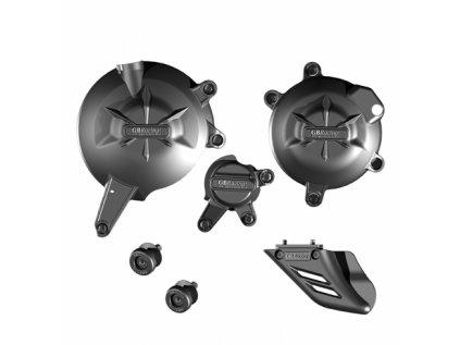 Sada krytů motoru, protektory zadní vidlice, kryt řetězu GB Racing - KAWASAKI ER6-N/F, Versys