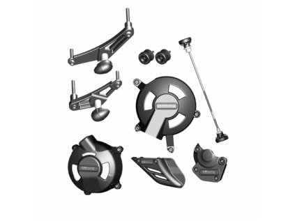 Sada krytů motoru, protektory, kryt řetězu, protektory GB Racing - TRIUMPH Daytona/STREET Triple 675/R