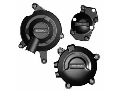 Sada krytů motoru GB Racing  - TRIUMPH D675R r. 13-20