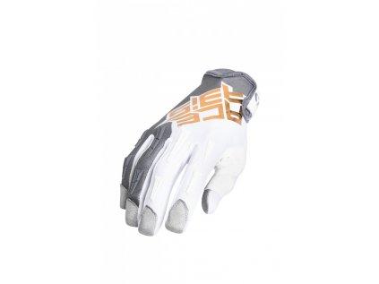 Motokrosové rukavice MX-X-P Acerbis šedá/zlatá