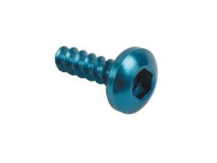 Šroub TCBEI aut. (SPECIAL) - pr. 5 mm, do plastu s vnitřním šestihranem, čočkovitá hlava, AL7075 - ERGAL