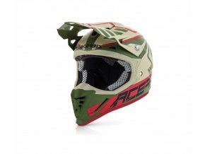 Helma na motorku Profile 3.0 SKINVIPER - Acerbis zelená