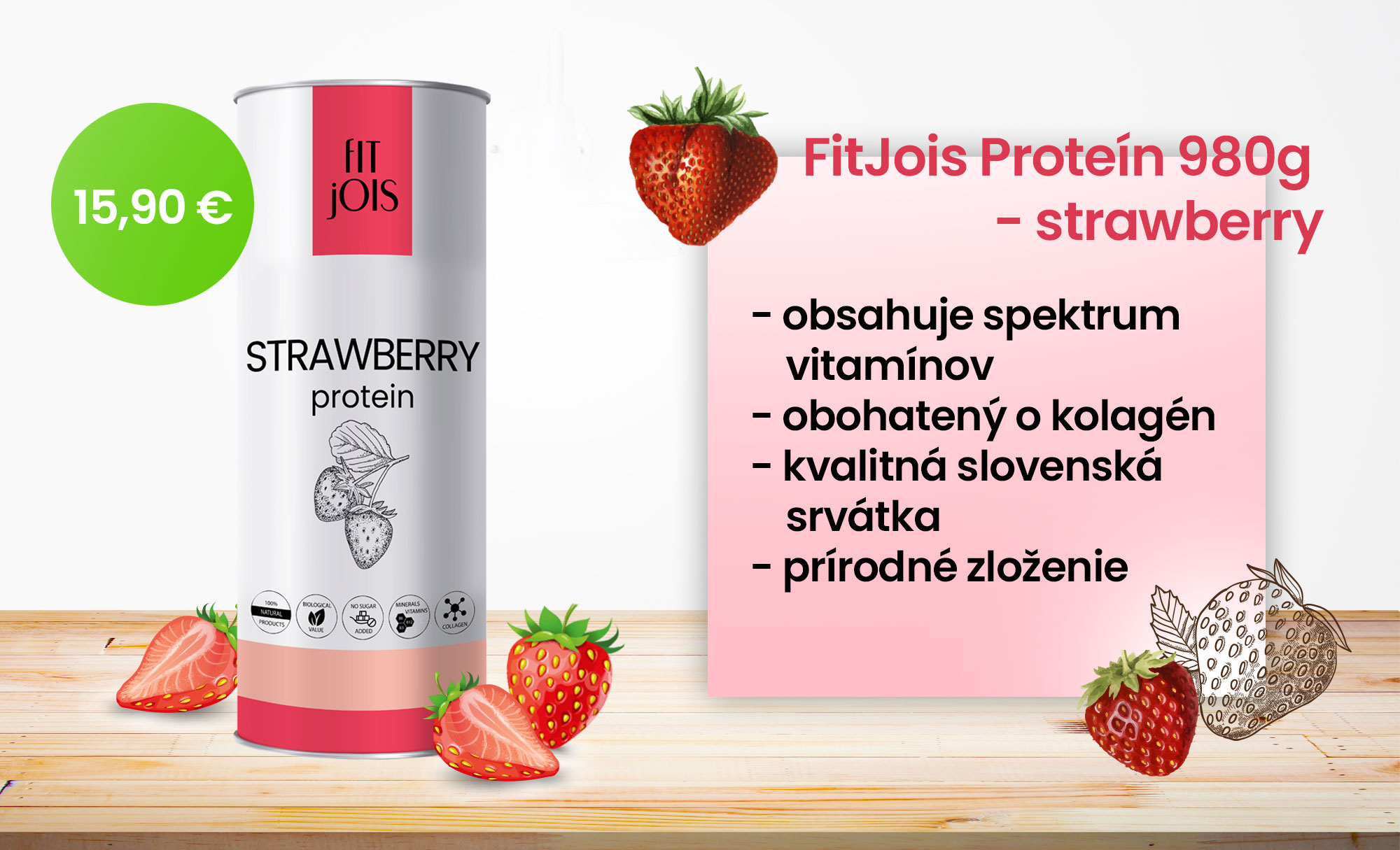 fitjois protein jahoda