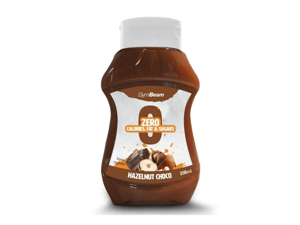 GymBeam Bezkaloricky sirup Hazelnut Choco 350 ml