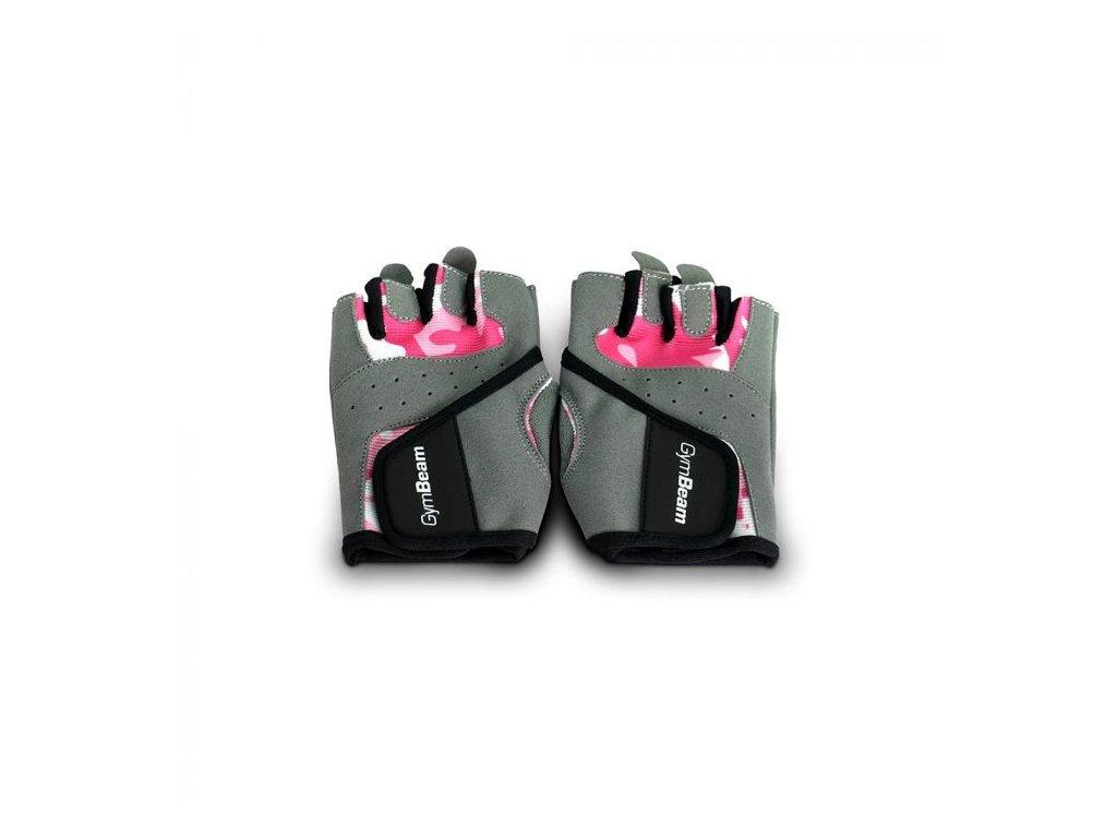 Fitness Dámske rukavice Camo Pink - GymBeam S