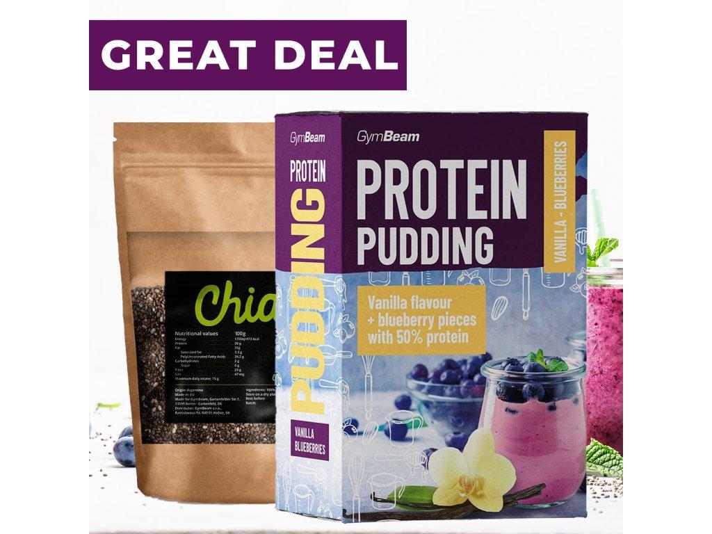 Proteínový puding 500 g - GymBeam