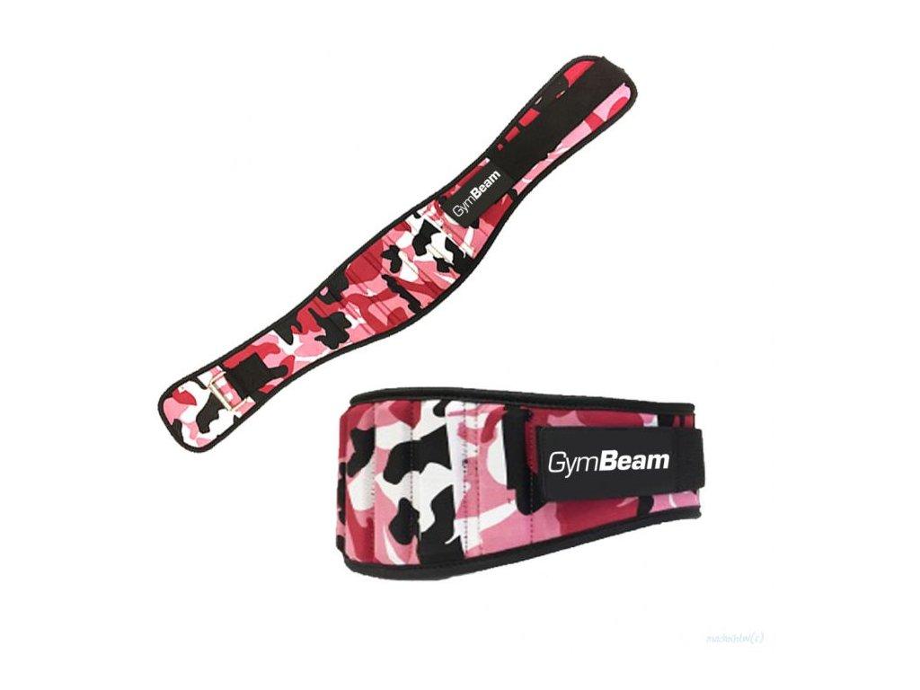 Dámsky fitness opasok Pink Camo - GymBeam