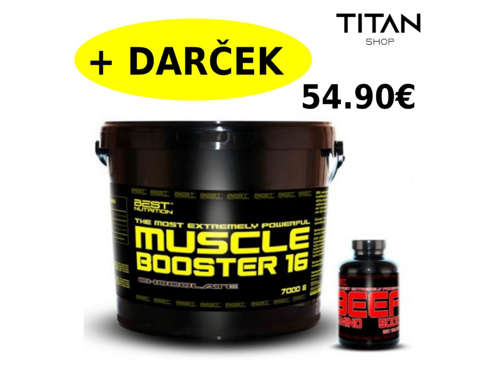 Muscle Booster + BEEF Amino Zadarmo od Best Nutrition 7000g+250tbl