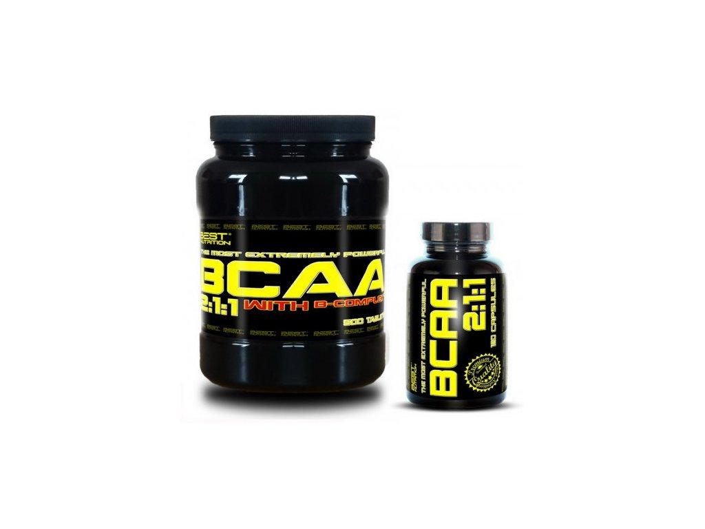 BCAA 5000 + BCAA 2:1:1 Zadarmo od Best Nutrition 250tbl+120tbl
