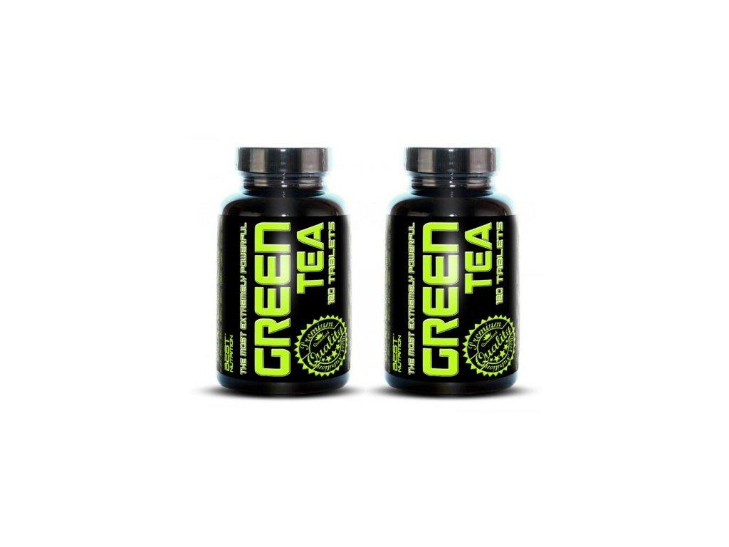 1+1 Zadarmo: Green Tea od Best Nutrition 120tbl+120tbl