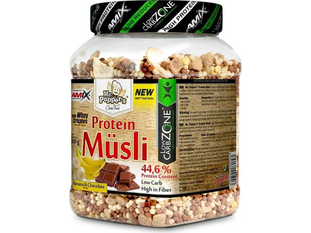 Amix Mr.Poppers Protein musli 500g