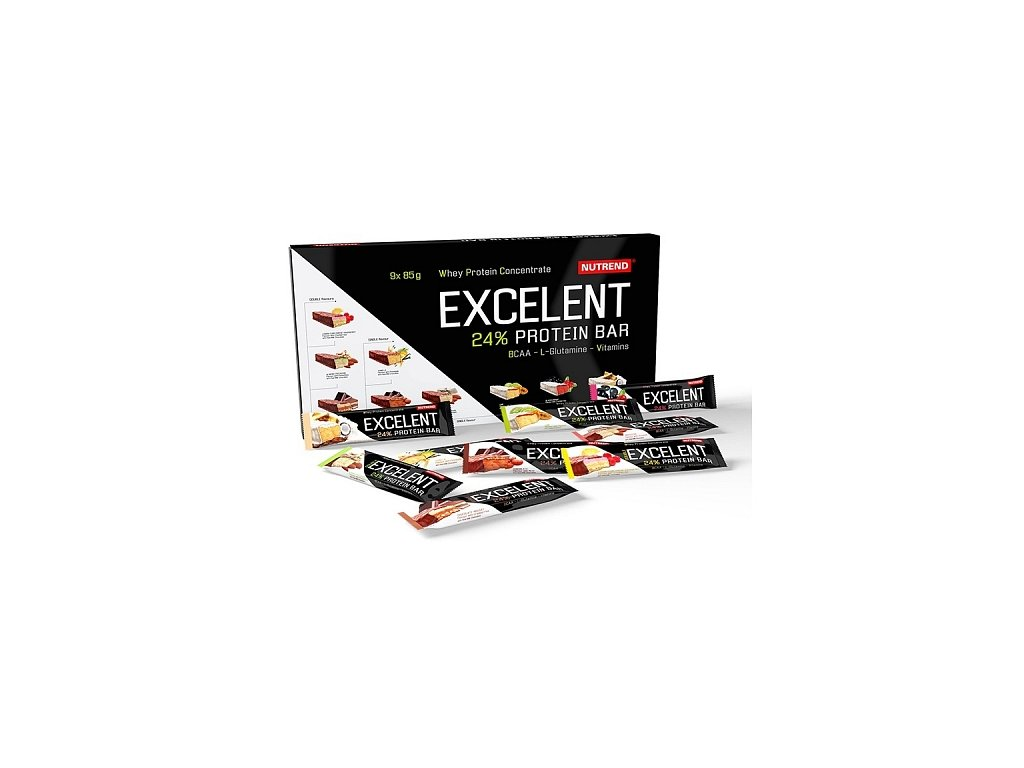 800x600 main photo Nutrend Excelent Protein bar 9x85 g fitplus.sk