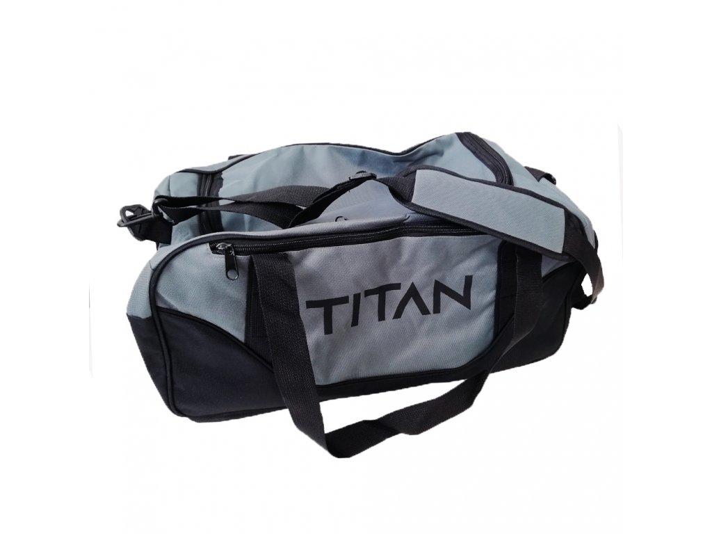 Športová taška TITAN Gray + Black
