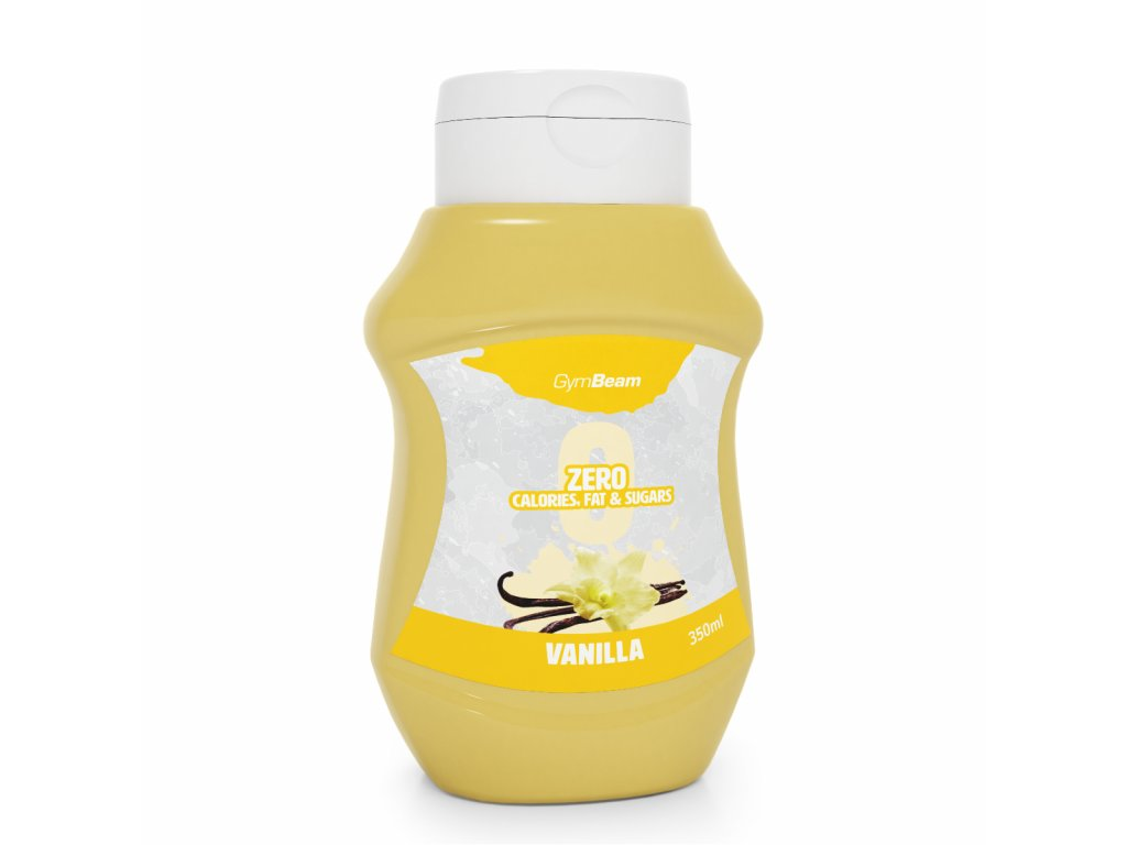 zero calories fats sugars sauce vanilla 350 ml gymbeam