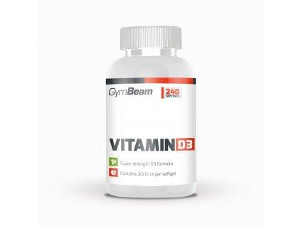 Vitamín D3 2000 IU - GymBeam 120 kaps