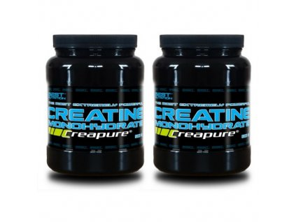 1+1 Zadarmo: Creatine Monohydrate Creapure od Best Nutrition 300g+300g
