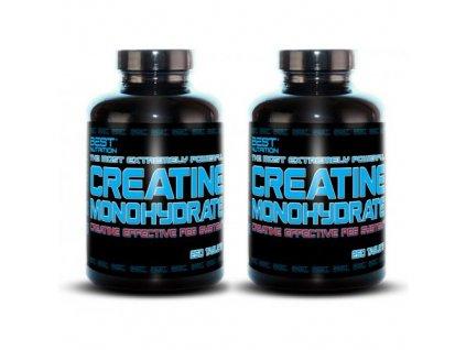 1+1 Zadarmo: Creatine Monohydrate Peg System od Best Nutrition 250tbl+250tbl