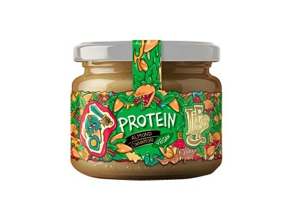 lahodne veganske proteinovo mandlove maslo so skoricou protein almond cinamon lifelike 300 g detail