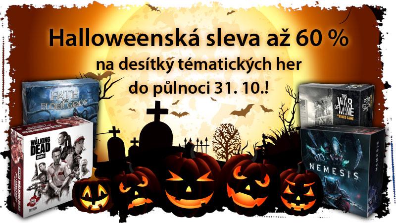 Halloweenská slevová akce!