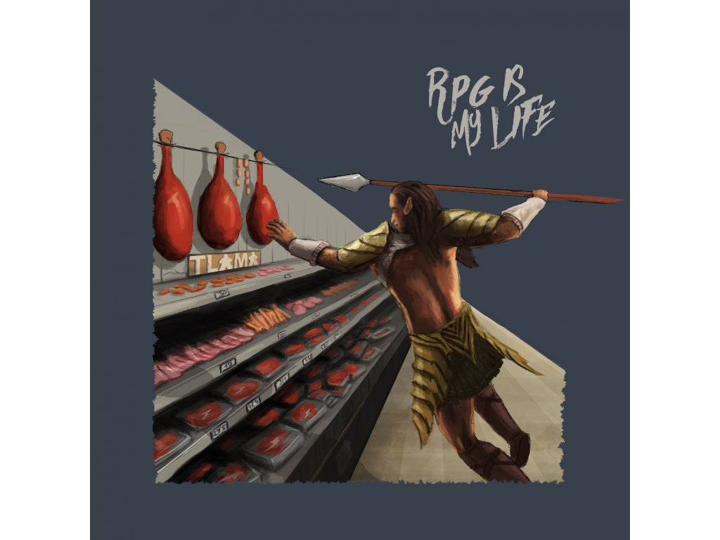"T-shirt ""RPG is my life""  (deskoherní tričko)"