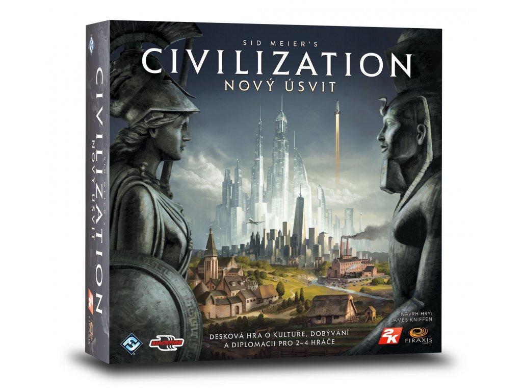 Civilizace Novy Usvit vizualizace