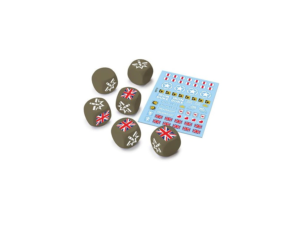 World of Tanks Miniatures Game - U.K. Dice and Decals