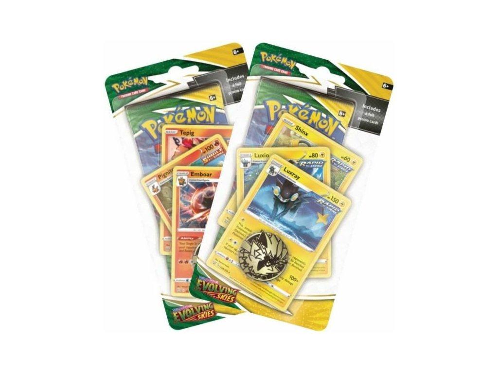 Pokémon TCG: Sword and Shield 7 - Evolving Skies Premium Check Lane Blister
