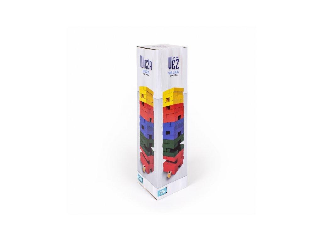 Velká barevná věž s kostkou